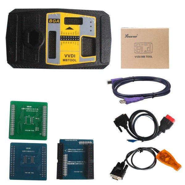 Xhorse V4.9.0 VVDI MB BGA TooL Benz Key Programmer Plus EIS/ELV Test Line and NEC Key Adaptor Free Shipping