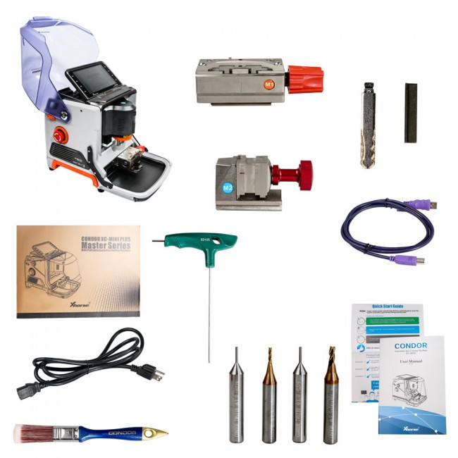 Xhorse Condor XC MINI Plus Cutting Machine with VVDI MB BGA Tool For Benz Key Programmer Get One Free BGA Token Everyday