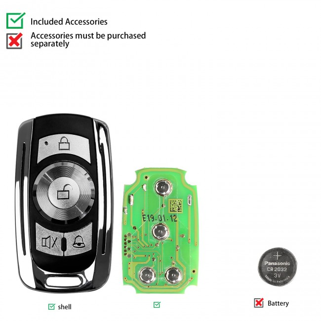 Xhorse Garage Remote Key XKGD10EN 4 Buttons 5pcs/lot