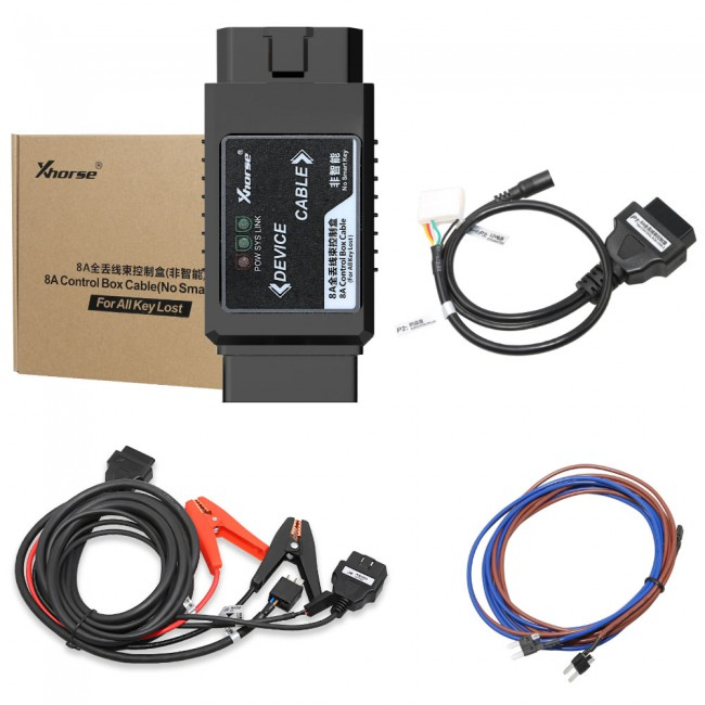 Xhorse VVDI2 All Function Version + Toyota 8A Non-smart Key Adapter for All Key Lost No Disassembly