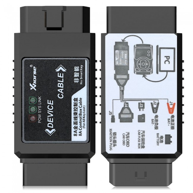 XHORSE Toyota 8A Non-smart Key Adapter for All Key Lost No Disassembly Work with VVDI2/VVDI Key Tool Max plus MINI OBD Tool