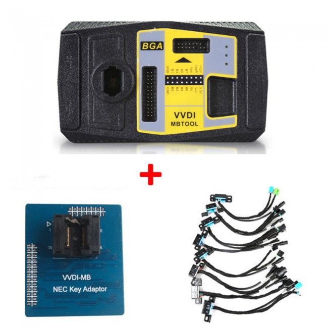 Xhorse VVDI MB BGA TooL Benz Key Programmer Plus EIS/ELV Test Line and NEC Key Adaptor Free Shipping