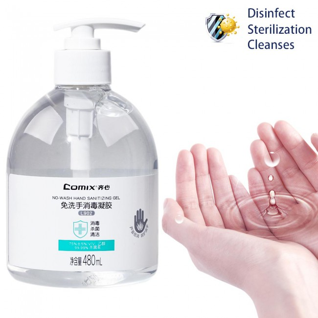 Comix L902 Disposable Hand Sanitizing Gel 480ml Quick-drying No-wash 3pcs/lot  FDA Certification
