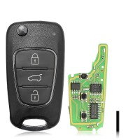 Xhorse Wireless Flip Remote Key 3 Buttons XNHY02EN KIA Hyundai Type Work with VVDI2/KeyTool/MIni Key Tool 5pcs/lot