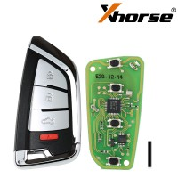 5PCS Xhorse XS Series Knife Style XSKF20EN Universal Smart Key Remote With 4 Buttons for VVDI2 / VVDI Key Tool