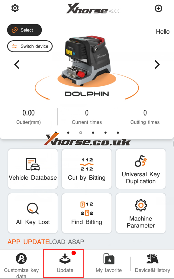xhorse dolphin xp005 database update 01